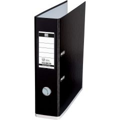 Biblioraft A4, plastifiat PP/PP, 80 mm, OXFORD MyColour - negru/alb