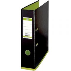 Biblioraft A4, plastifiat PP/PP, 80 mm, OXFORD MyColour - negru/verde deschis