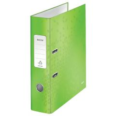 Biblioraft LEITZ 180 WOW, carton laminat, A4, 80 mm, verde