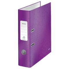 Biblioraft LEITZ 180 WOW, carton laminat, A4, 80 mm, mov