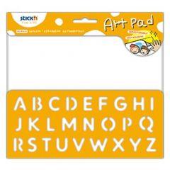 "Bloc desen autoadeziv 254 x 305mm, 24 file/set, Stick""n Art Pad - alfabet"