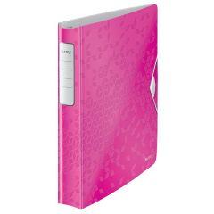 Caiet mecanic LEITZ Active WOW SoftClick, polyfoam, A4, mecanism 4DR, inel 30 mm, roz