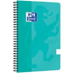 Caiet cu spirala B5, OXFORD Touch, 70 file - 90g/mp, Scribzee, coperta carton verde menta- punctat