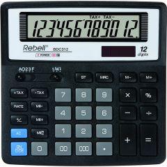 Calculator de birou, 12 digits, 156 x 156 x 30 mm, Rebell BDC 312 BX - negru