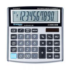 Calculator de birou, 10 digits, Donau Tech DT4101 - argintiu