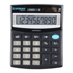Calculator de birou, 10 digits, 125 x 100 x 27 mm, Donau Tech DT4102 - negru