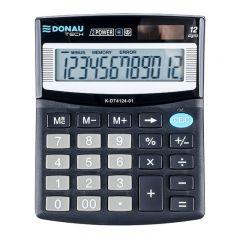 Calculator de birou, 12 digits, 125 x 100 x 27 mm, Donau Tech DT4124 - negru