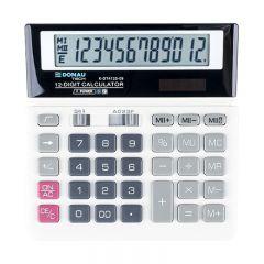 Calculator de birou, 12 digits, Donau Tech DT4125 - alb