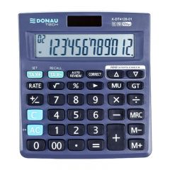Calculator de birou, 12 digits, Donau Tech DT4128 - negru