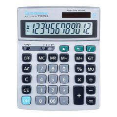 Calculator de birou, 12 digits, Donau Tech DT4129 - argintiu