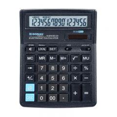 Calculator de birou, 16 digits, 193 x 143 x 38 mm, Donau Tech DT4161 - negru