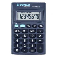Calculator de buzunar, 8 digits, Donau Tech DT2086 - negru
