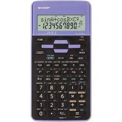 Calculator stiintific, 10 digits, 273 functiuni, 161x80x15mm, dual power, SHARP EL-531THBVL-negru/vi