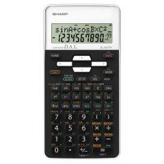Calculator stiintific, 10 digits, 273 functiuni, 161x80x15mm, dual power, SHARP EL-531THWH-negru/alb