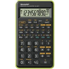 Calculator stiintific, 10 digits, 131 functiuni, 144 x  75 x 10 mm, SHARP EL-501TBGR - negru/verde