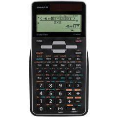 Calculator stiintific, 16 digits, 640 functiuni, 161x80x15 mm, dual power, SHARP EL-W506TBSL - argin