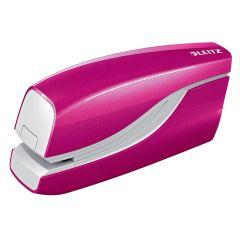 Capsator electric LEITZ WOW NeXXt Series, cu baterii, 10 coli, 1000 capse e1 incluse, roz