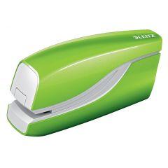 Capsator electric LEITZ WOW NeXXt Series, cu baterii, 10 coli, 1000 capse e1 incluse, verde