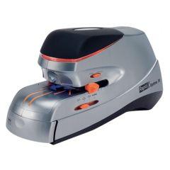 Capsator electric Rapid OPTIMA, cu adaptor, 70 coli, cutie, 500 capse Optima HD70 incluse, argintiu