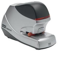 Capsator electric Rapid OPTIMA, cu adaptor, 45 coli, cutie, 5000 capse Optima HD70 incluse, argintiu