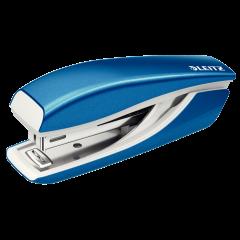 Capsator metalic, LEITZ WOW 5528 Mini NeXXt Series, 10 coli, cutie - albastru metalizat