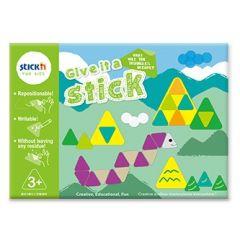"""Carte creativa Stick""""n Give it a Stick - triunghiuri (+3 ani)"""