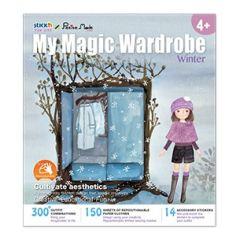 "Carte creativa Stick""n My Magic Wardrobe - iarna"