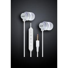 Casti GRIXX Optimum Basic - 10mm Dynamic Element, cu telecomanda si microfon - albe