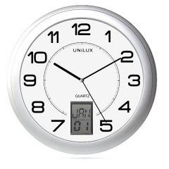 Ceas de perete UNILUX Instinct - gri/alb