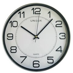 Ceas de perete UNILUX Magnet - gri/alb