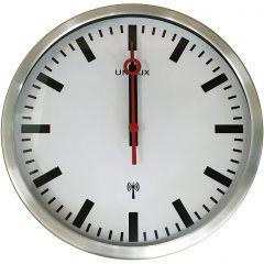 Ceas de perete, controlat prin radio, UNILUX Station - gri