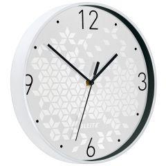 Ceas pentru perete Leitz WOW, silentios, rotund, 29 cm, alb