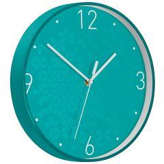 Ceas pentru perete Leitz WOW, silentios, rotund, 29 cm, turcoaz