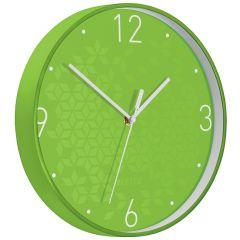 Ceas pentru perete Leitz WOW, silentios, rotund, 29 cm, verde