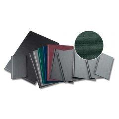 Coperti rigide A4-landscape, structura panzata, 10 buc/set, Metal-BIND OPUS - albastru