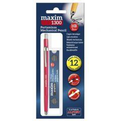 Creion mecanic 2mm + set 12 mine 2mm, ALPINO Maxim 1300