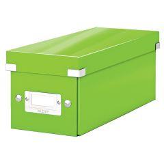Cutie depozitare LEITZ WOW Click & Store, carton laminat, pentru CD-uri, verde