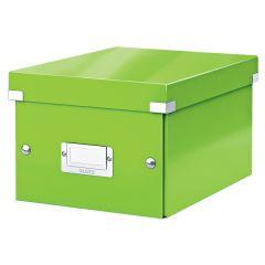 Cutie depozitare LEITZ WOW Click & Store, carton laminat, mica, verde