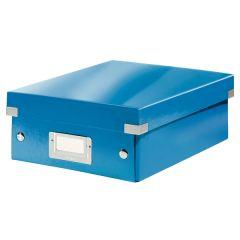 Cutie depozitare LEITZ WOW Click & Store Organizer, carton laminat, mica, albastru