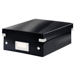 Cutie depozitare LEITZ WOW Click & Store Organizer, carton laminat, mica, negru