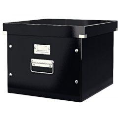 Cutie LEITZ Click & Store, pentru 15 dosare suspendabile - negru