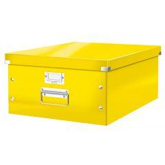 Cutie depozitare LEITZ WOW Click & Store, carton laminat, mare, galben