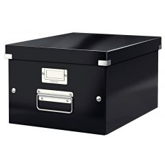 Cutie LEITZ Click & Store medie 281 x 200 x 369 mm, carton laminat - negru