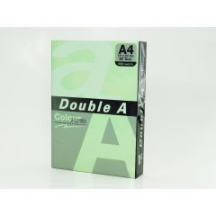 Hartie color pentru copiator  A4,  80g/mp,  25coli/top, Double A - pastel green