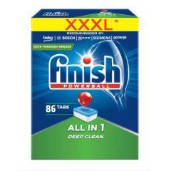 Pastile detergent automat  pentru masina vase, 86 buc/cutie,  All in 1 - FINISH