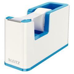 Dispenser banda adeziva LEITZ WOW, PS, banda inclusa, culori duale, alb-albastru