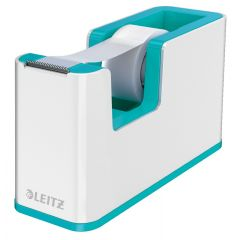 Dispenser banda adeziva LEITZ WOW, PS, banda inclusa, culori duale, alb-turcoaz