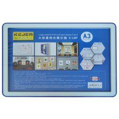 Display nume din plastic, 420 x 210mm, KEJEA - albastru
