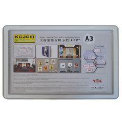 Display nume din plastic, 420 x 210mm, KEJEA - gri