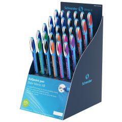 Display SCHNEIDER Slider Memo XB, 30 pixuri - (10 x albastru, 9 x negru, 3 x Ro, 2 x V, Or, Vi, roz)